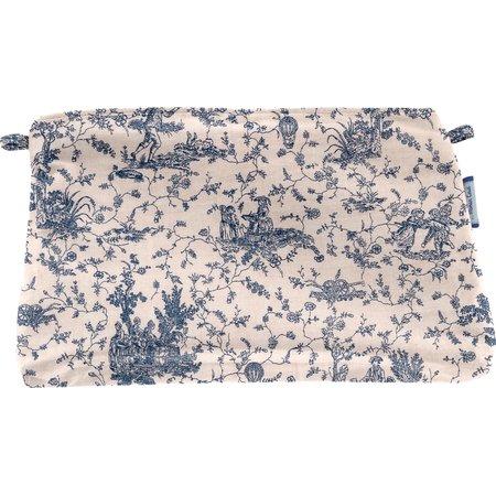 Pochette coton  toile de jouy marine