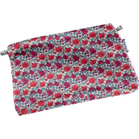 Tiny coton clutch bag poppy