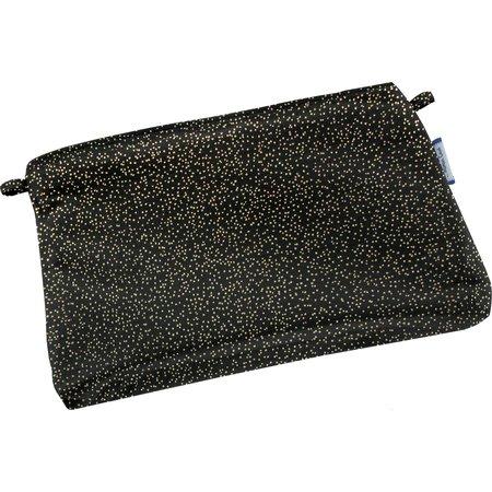 Tiny coton clutch bag noir pailleté