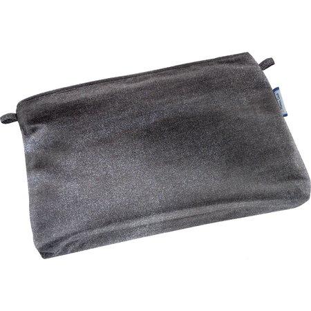 Tiny coton clutch bag suédine noire