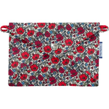 Little envelope clutch poppy