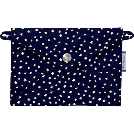 Little envelope clutch etoile or marine