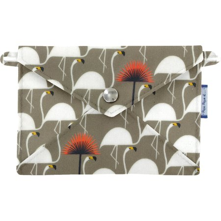 Little envelope clutch flamingo