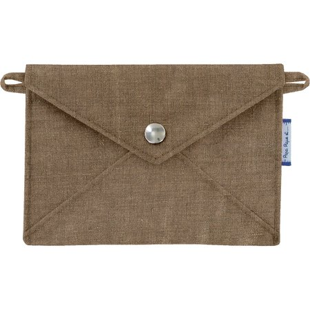 Little envelope clutch gold linen