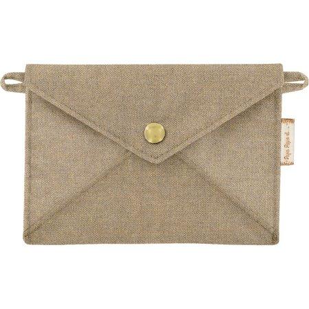 Little envelope clutch golden linen