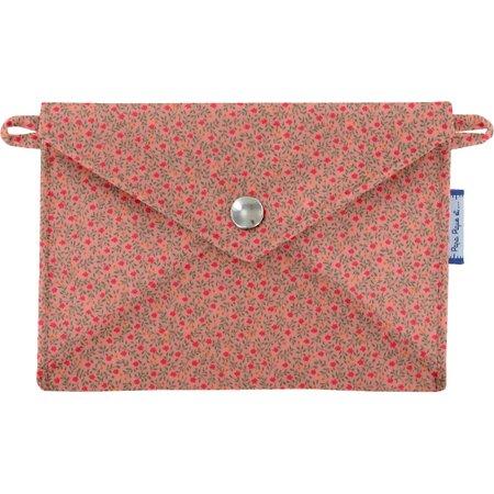 Little envelope clutch mini pink flower