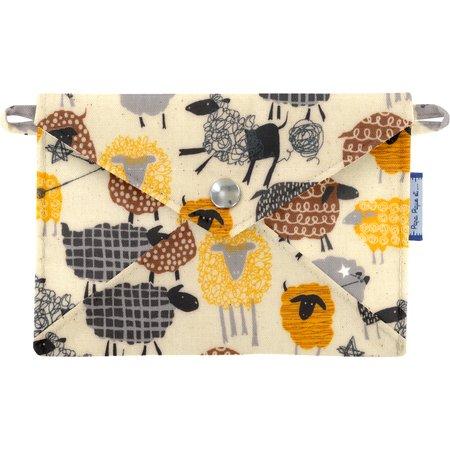 Petite pochette enveloppe mouton jaune