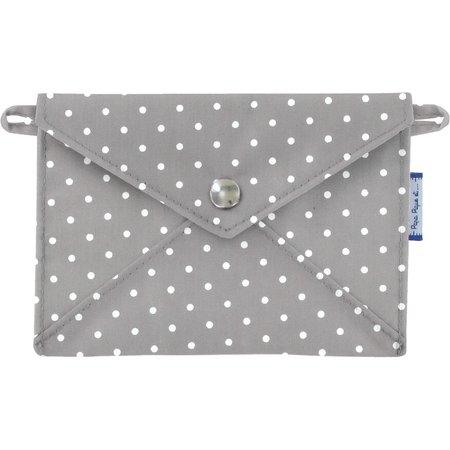 Little envelope clutch light grey spots