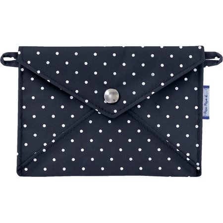 Little envelope clutch navy blue spots