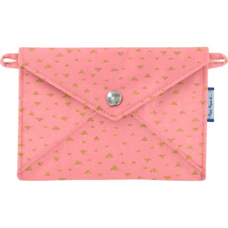 Little envelope clutch triangle or poudré