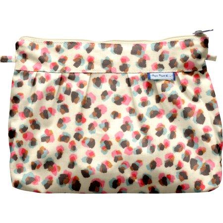 Pleated clutch bag confetti aqua