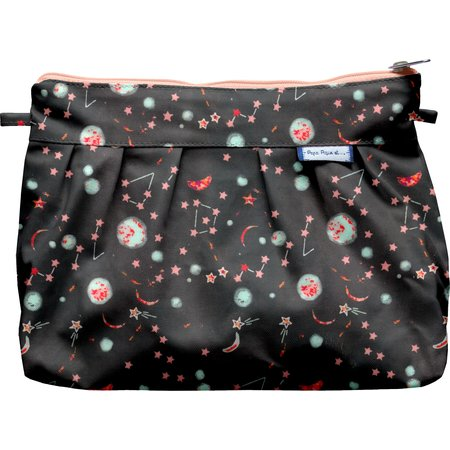 Pleated clutch bag constellations