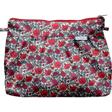 Pleated clutch bag poppy
