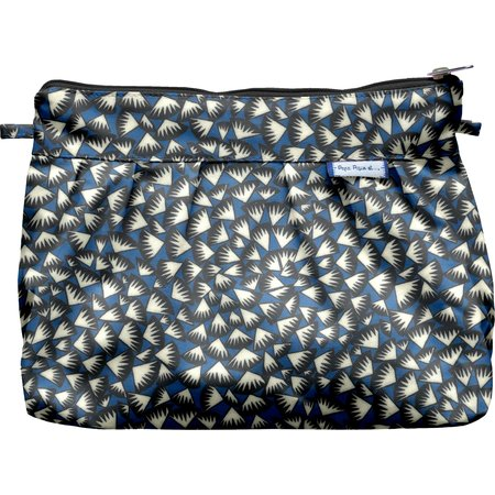 Pleated clutch bag parts blue night