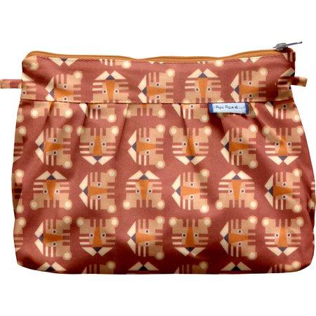 Pleated clutch bag géotigre