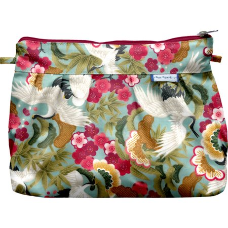 Pleated clutch bag ibis