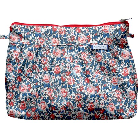 Pleated clutch bag flowered london