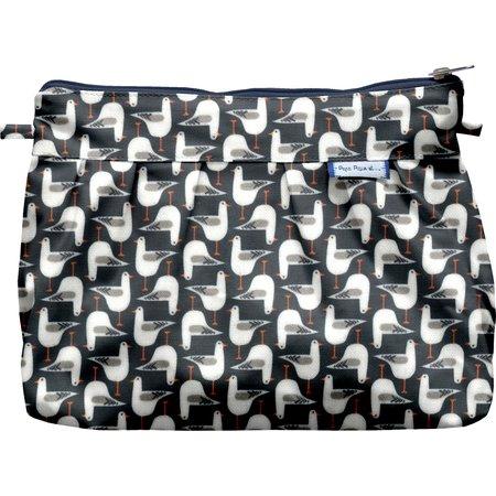 Pleated clutch bag black-headed gulls