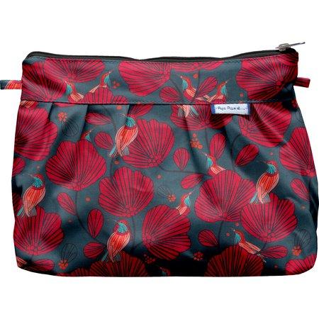 Pleated clutch bag oiseau de noël