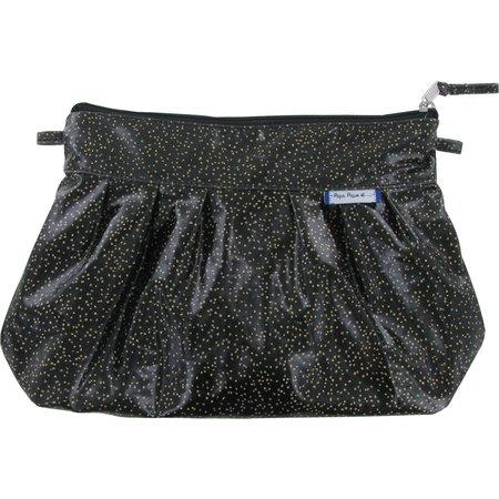 Pochette plissée noir pailleté