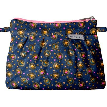 Mini Pleated clutch bag glittering heart