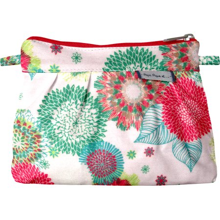 Mini Pleated clutch bag powdered  dahlia