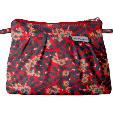 Mini Pleated clutch bag vermilion foliage