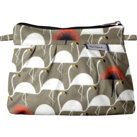 Mini Pleated clutch bag flamingo