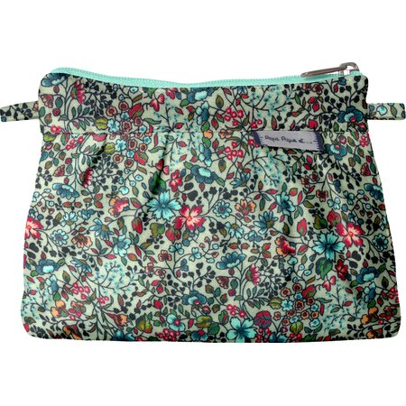 Mini Pleated clutch bag flower mentholated