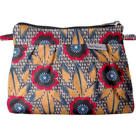 Mini Pleated clutch bag fleurs de savane