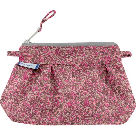Mini pochette plissée lichen prune rose