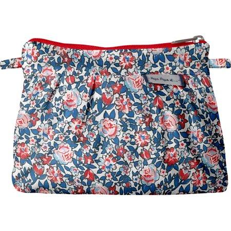 Mini Pleated clutch bag flowered london