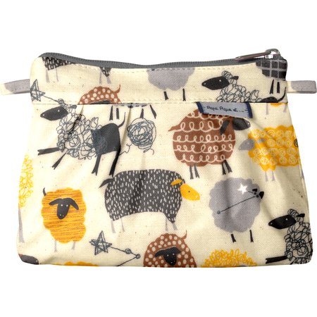 Mini Pleated clutch bag yellow sheep