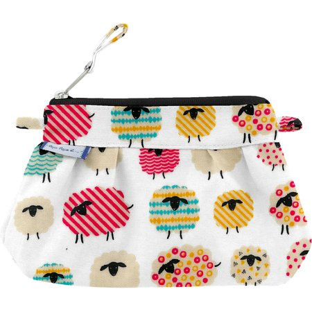 Mini pochette plissée mouton multicolore
