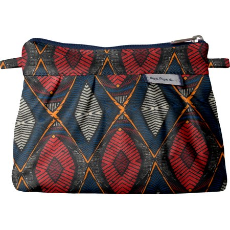 Mini Pleated clutch bag wax