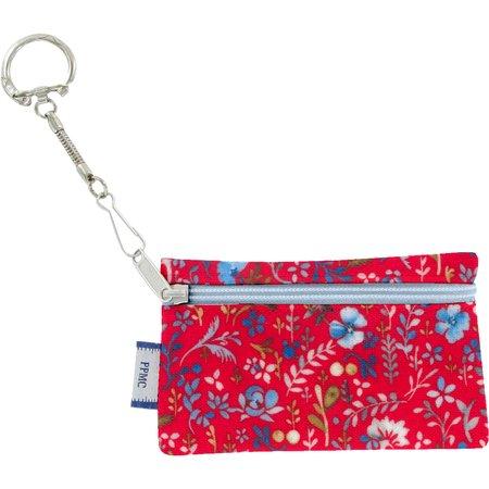 Keyring  wallet cherry cornflower