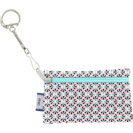 Pochette porte-clés eclats fluo