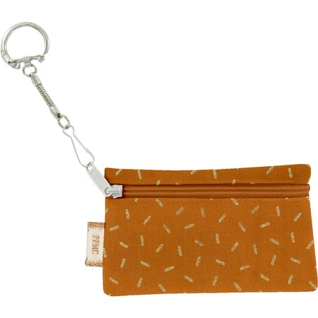 Keyring  wallet caramel golden straw
