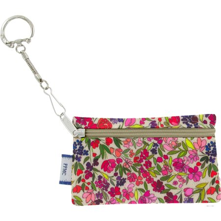 Keyring  wallet purple meadow
