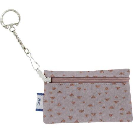Keyring  wallet triangle cuivré gris