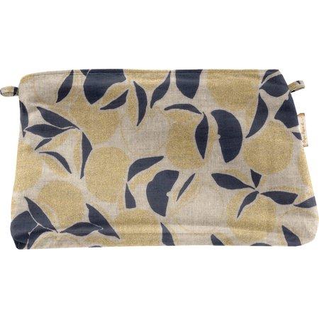 Coton clutch bag citrons dorés
