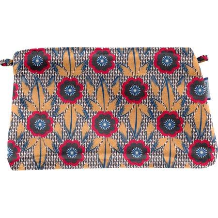 Coton clutch bag fleurs de savane