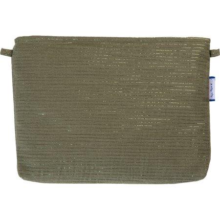Coton clutch bag khaki lurex gauze