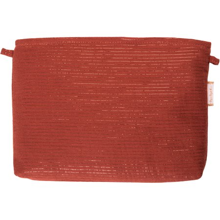 Coton clutch bag lurex terracotta gauze