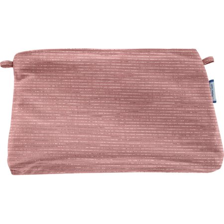Coton clutch bag dusty pink lurex gauze