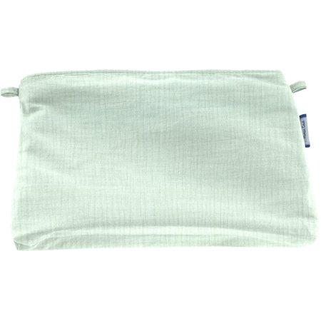 Pochette tissu gaze vert d'eau