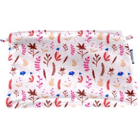 Pochette tissu herbier rose