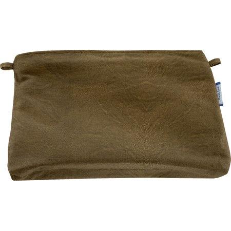 Pochette tissu  leather bronze