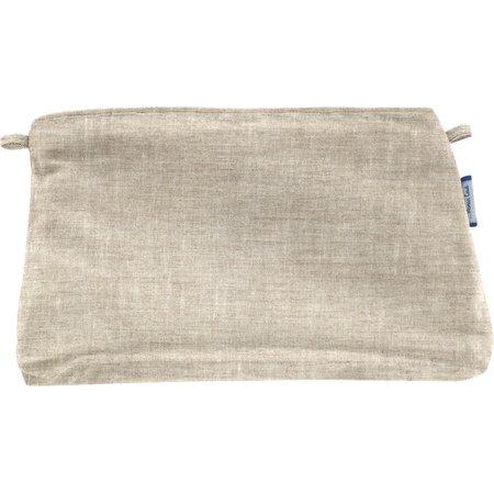 Pochette tissu  lin pailleté