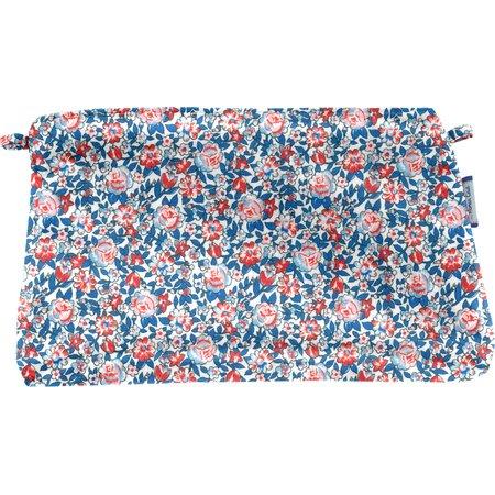 Pochette tissu london fleuri